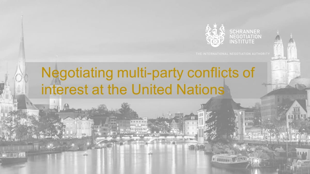 NEGOTIATIONS AT THE UNITED NATIONS – JOIN OUR WEBINAR