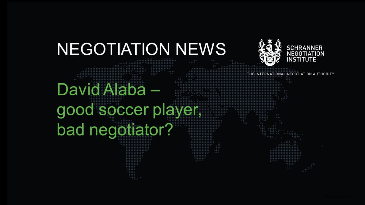 NEGOTIATION NEWS ALABA