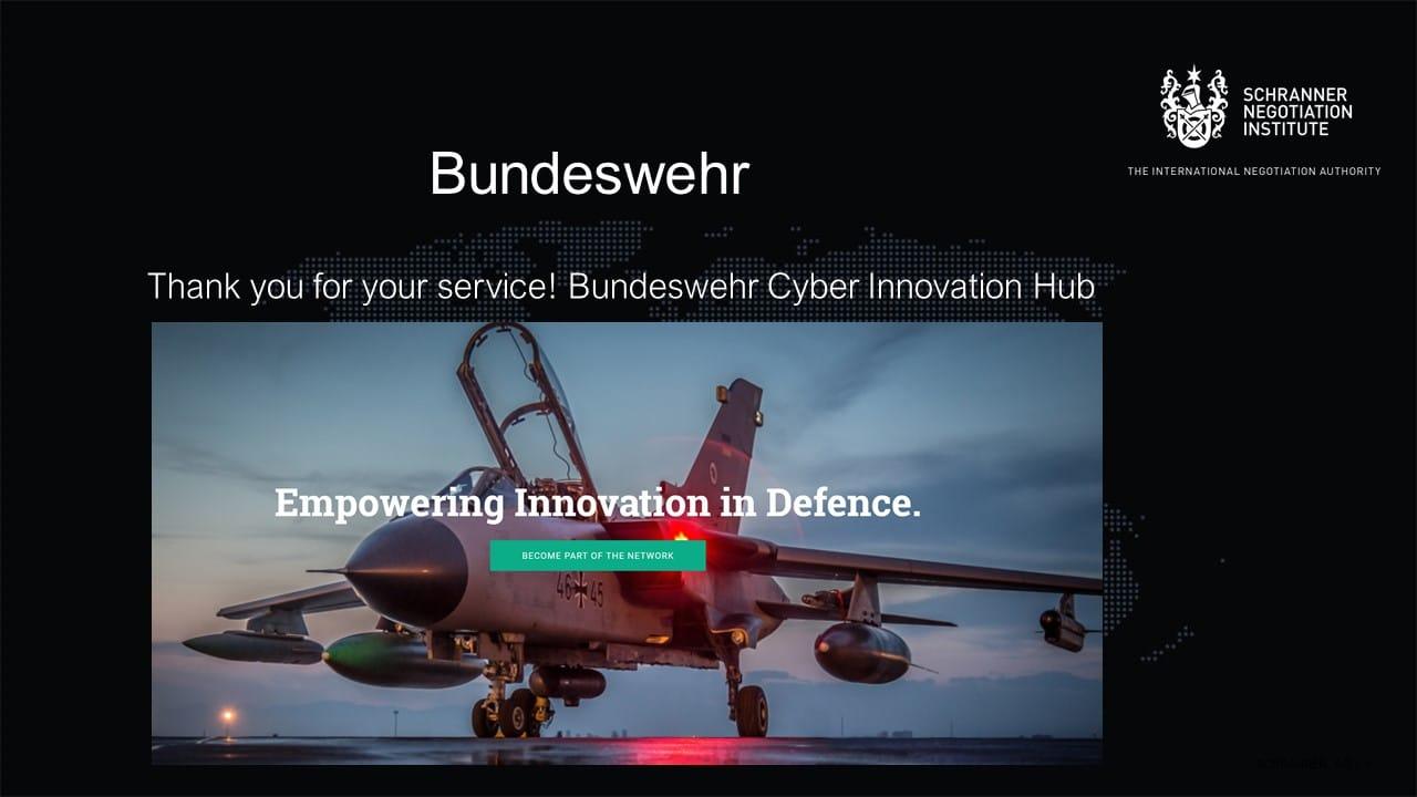 Negotiation Bundeswehr