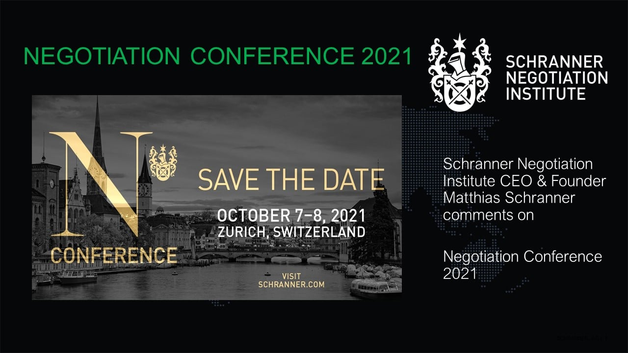 Negotiation Conference 2021 Introdustion