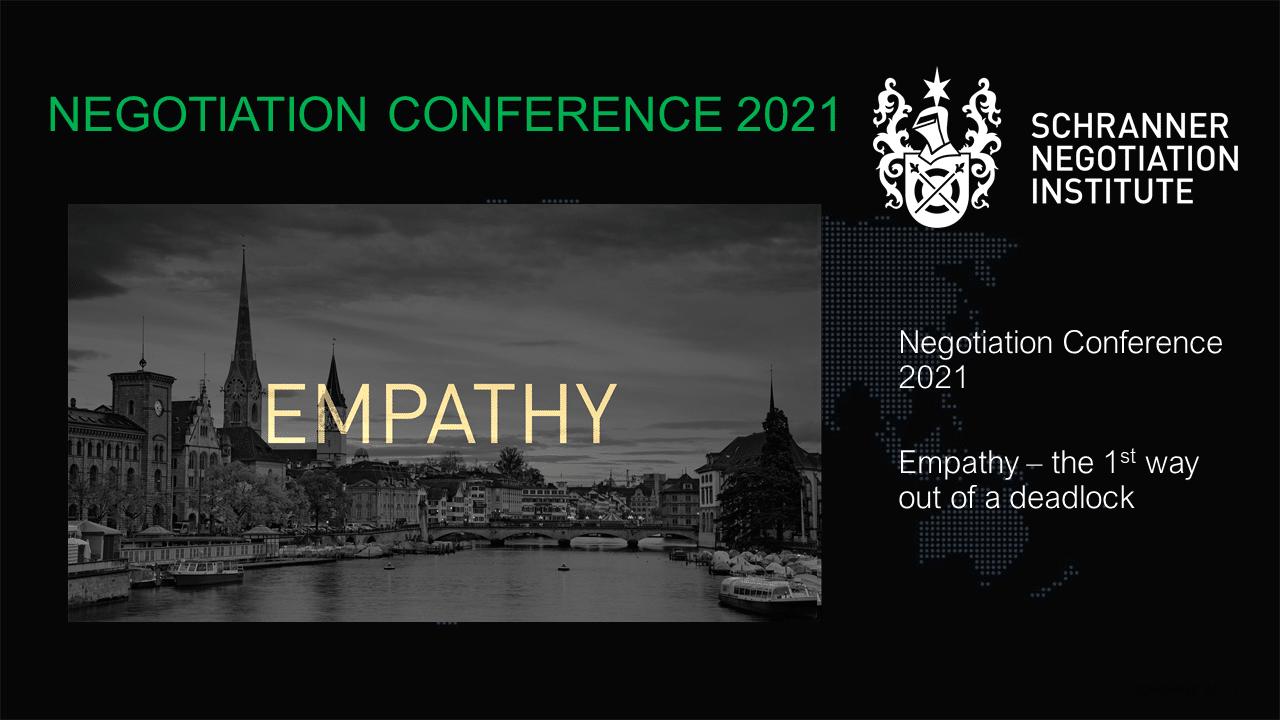 Negotiation Conference 2021: Empathy