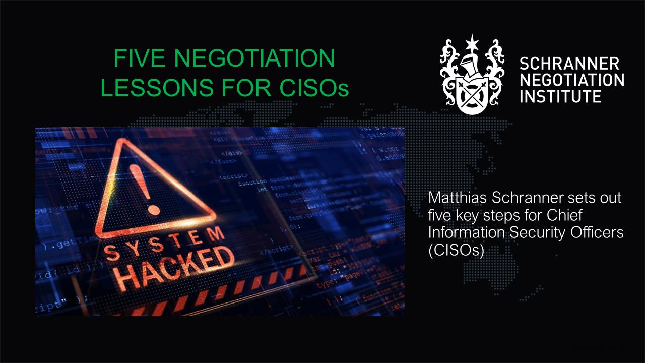 cybersecurity negotiation