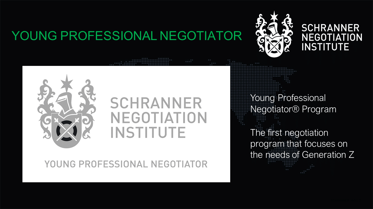 Young Professional Negotiator