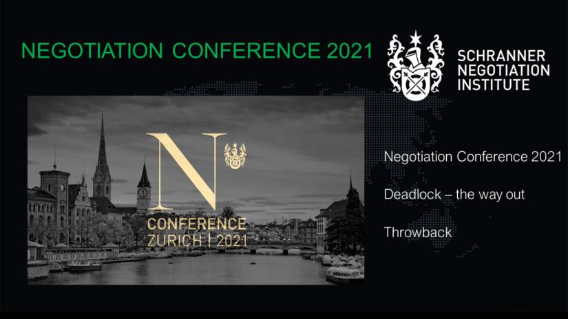 Negotiation Conference 2021